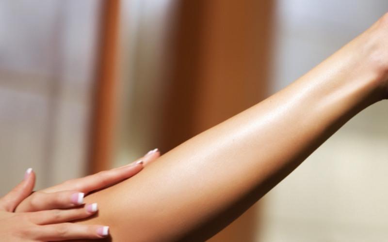 Laserowo wydepilowana noga
